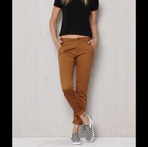 MANILA GRACE Chino Brown Straight Leg Pants, 30